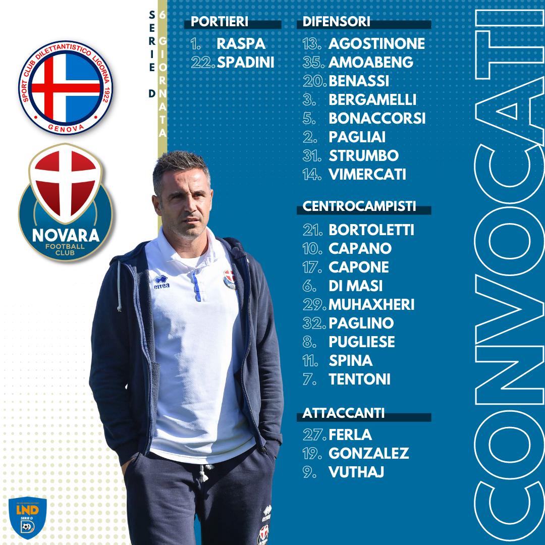 Read more about the article Ligorna-Novara: i convocati azzurri
