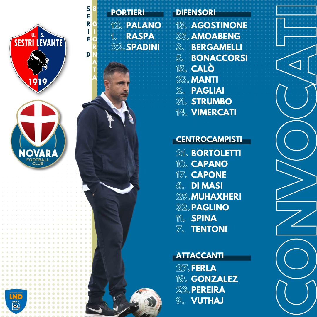 Read more about the article Sestri Levante-Novara: i convocati azzurri